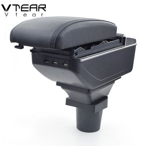 Vtear For Toyota RAV4 armrest USB Charging heighten Double layer storage box central Store content arm rest accessories 99-03