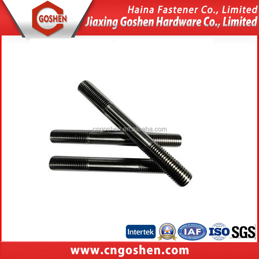 Hot Sale Oil Pipeline Black Oxide Double Head Stud Bolt ASTM A193 B7 B16