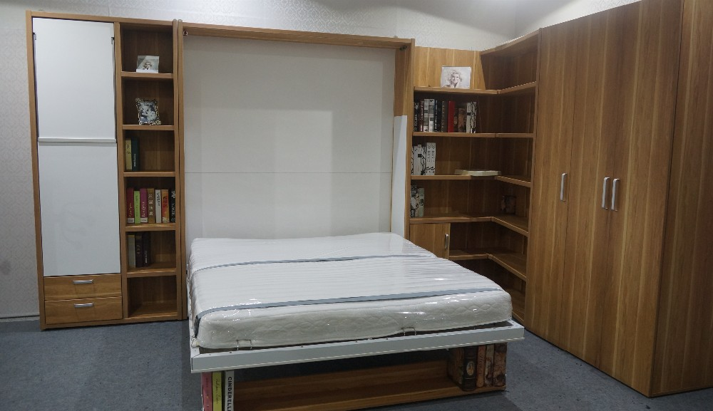 Folding Wall Bed ,Hidden Wall Bed,Murphy Bed with Sofa