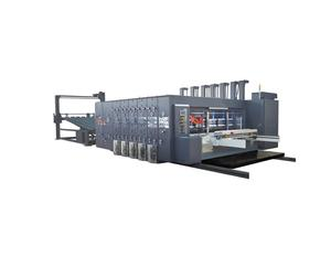 automatic corrugated carton box making machine flexo printer slotter and rotary die-cutter
