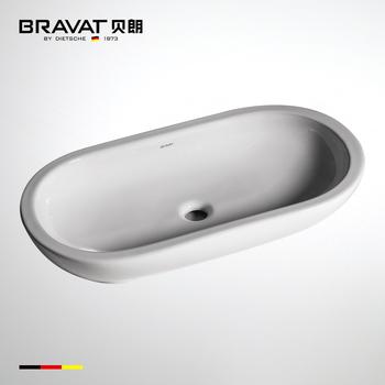 Unique White Porcelain Kitchen Sink Single Bowl Above Counter