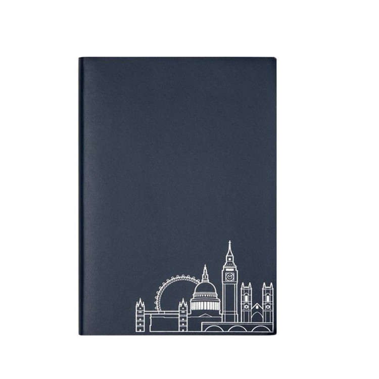 2020 journal promotionnel de logo en relief noir pu cahier en cuir