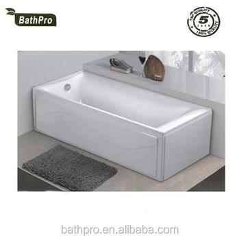 Wonderful Corner Clean Acrylic 2 Sided Skirt Bathtub