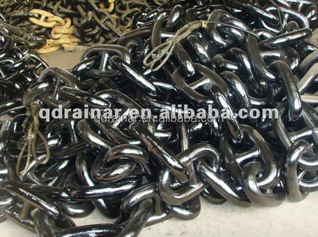 bituminous paint black marine stud / studless draging anchor chain