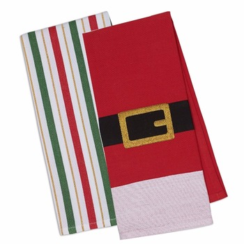 Cotton Christmas Holiday Dish Towels, Decorative Oversized Embellished home Kitchen Towels