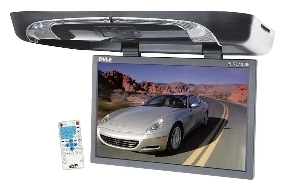 PYLE PLRD195IF 19'' Flip Down w/ Built In DVD/SD/USB Player w/ Wireless FM/ Modulator & IR Transmitter