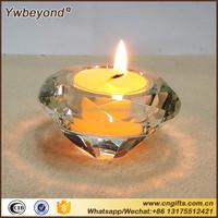 Ywbeyond Wholesale Indian Wedding Favors Crystal diamond shape tealight candlestick crystal candle holder