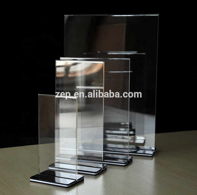 Desk Accessories & Organizer Card Holder & Note Holder A5 Acrylic Price Tag Display Stand Plastic Menu Stand Frame Picture Holder Advertising Menu Poster Display Rack Desk Sign Holder Price Remains Stable