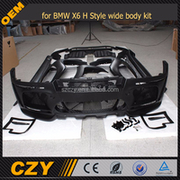 H Style Wide FRP Body kit for BMW X6 E71 Bumper