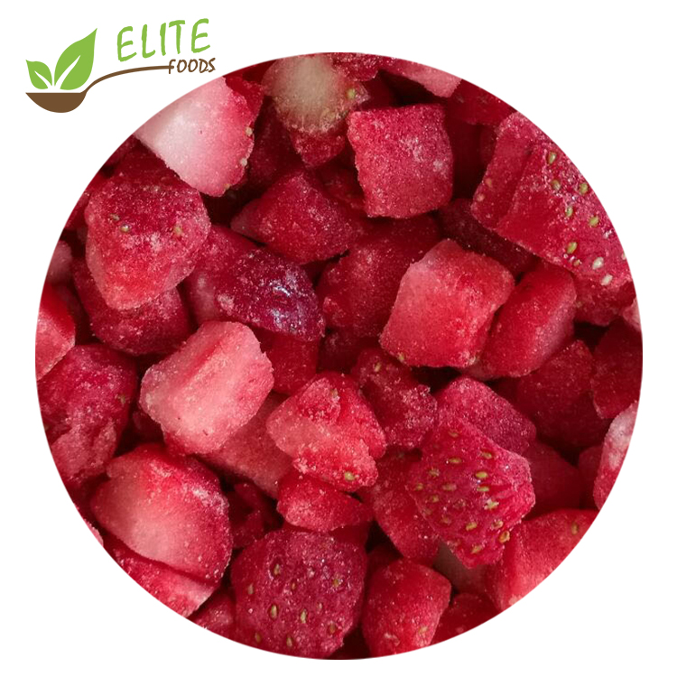 Quick Frozen Diced <strong>Strawberry</strong> Dices IQF Good Price
