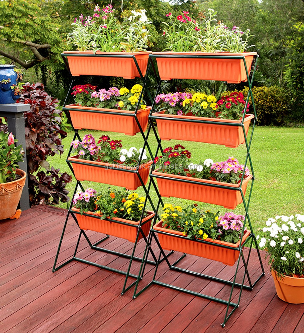 4 Tier Outdoor Flower Bed Pot Stand