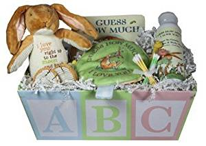Baby Bath Gift Basket Guess How Much I Love You by Baby Gift Idea