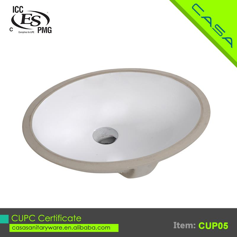 Low cost ceramic CUPC white standard kitchen sink size