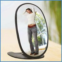 Portable Hand Held Full Length Makeup Mirror