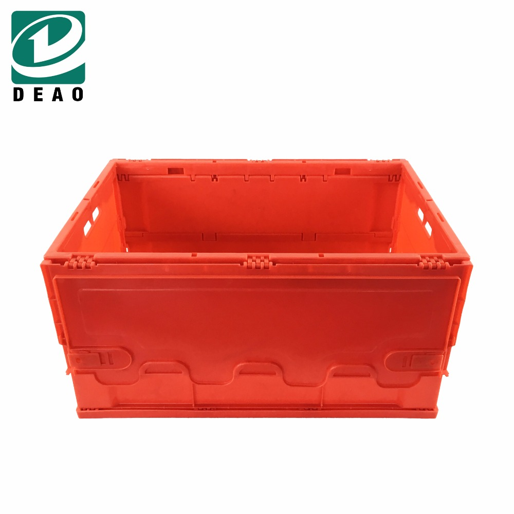 Square Folded Foldable Collapsible Plastic Milk Crate/Box