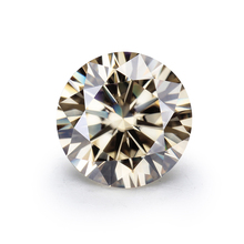 6.5mm light champagne round diamond cut loose gemstones colored moissanite