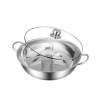 China Hot Sale Restaurant Equipment Multifunctional Cooker 304 Stainless Steel Electric Hot Pot With Divider