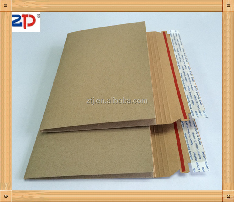 Stay flat kraft brown Gusseted mailers