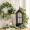Suliper Wreath Artificial Eucalyptus Leaf Garland Decorative Botanical Greenery