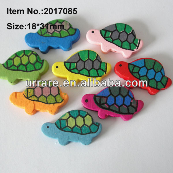 18*31MM Children DIY Animal Turtle Shaped Wooden Beads