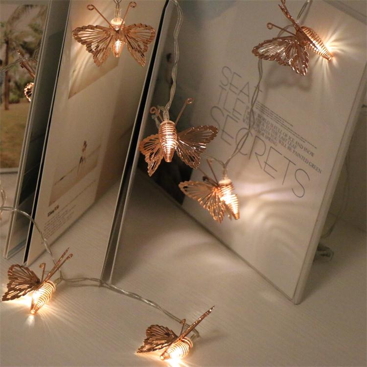 China Supply Home Bedroom Wedding Party Decoration Rose Gold Metal  Butterfly Design Led String Lights - Buy Led String Lights,Led Battery  Operated ...