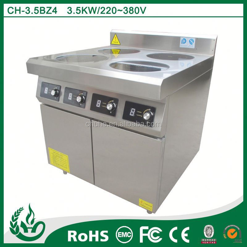 Electrical hotel commercial cooking range