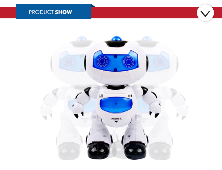 Remote-controlled stylish design lights musical the robot for kids