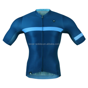 china sublimation navy blue mens bike wear coolmax pro team cycling jersey
