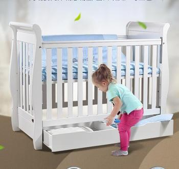 French Style Wooden Baby Cot Furniture Custom Made Cribs