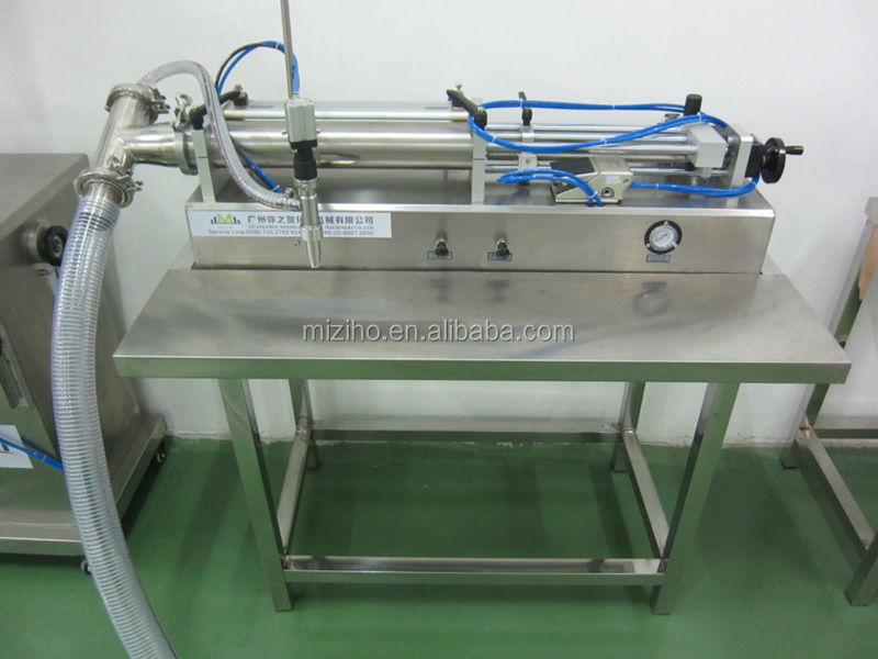 semi automatic MZH-F Pneumatic Sunflower oil filling machine for tomato paste cosmetic and peanut butter ( CE certification)