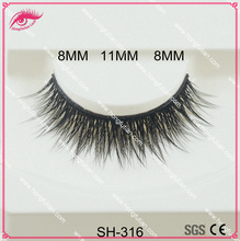 High quality false eyelashes artificial mink lashes wholesale with private label eyelash packaging