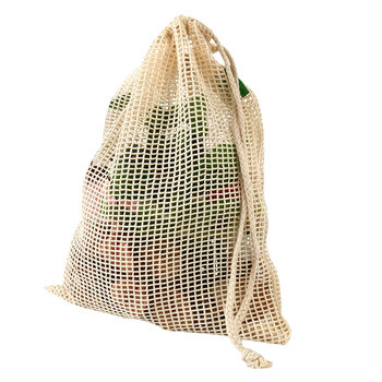 Premium Environmentally Friendly Reusable Mesh Produce Bags with Bonus Carry Pouch; Set of 8 Heavy Duty See Through Washable bag