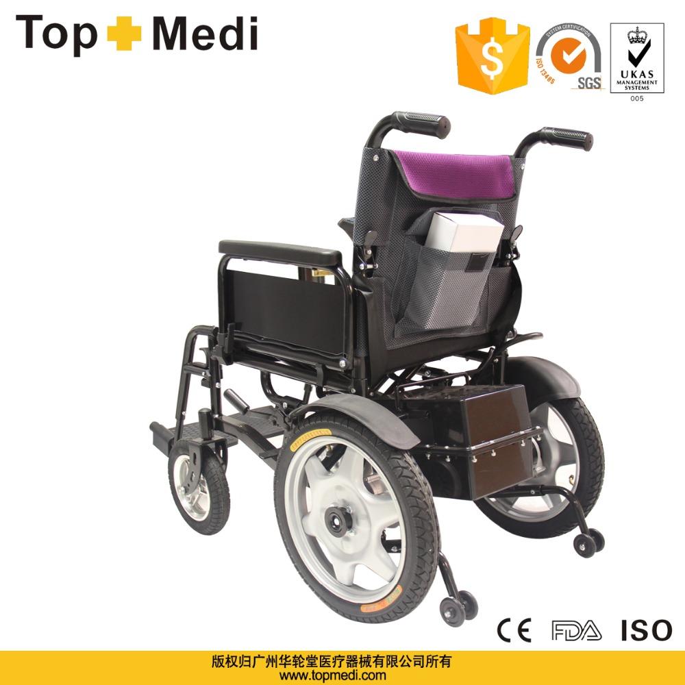 topmedi meilleure vente pas cher prix pliable fauteuil roulant lectrique pour personnes g es. Black Bedroom Furniture Sets. Home Design Ideas