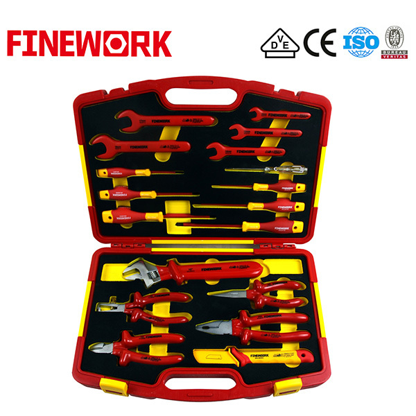 18 PCS Insulated Wrench, Screwdriver, Knife, Pliers in Tool Set, Hand Tools Kit OEM