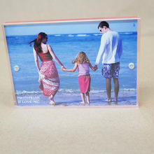 PMMA plexiglass customizing acrylic magnetic photo frame