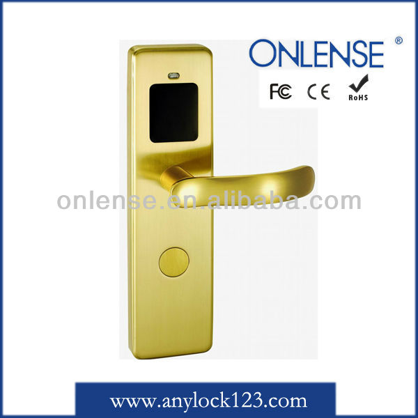 RF brass electronic hotel lock from Guangzhou manufacturer