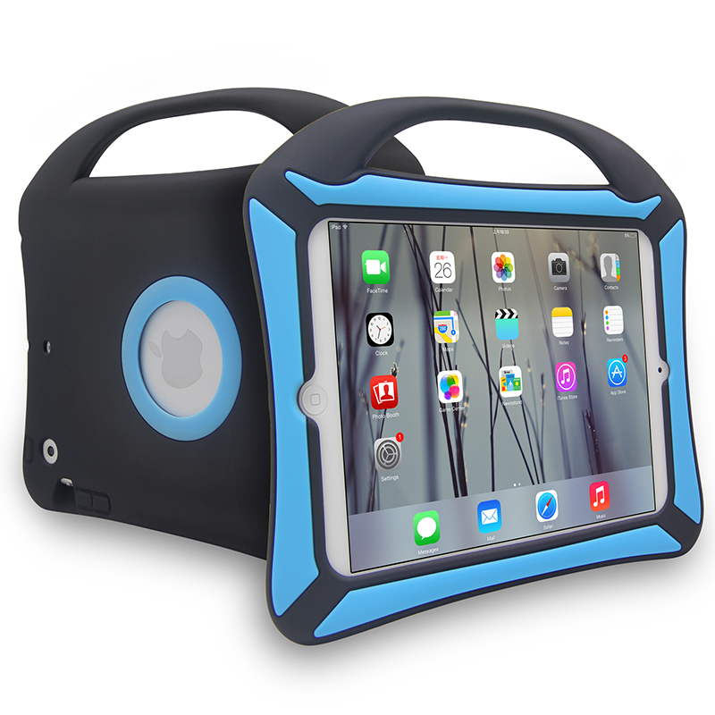 Blue and black design tablet silicone case,shockproof rubber case for tablet for ipad mini 1 2 3 4