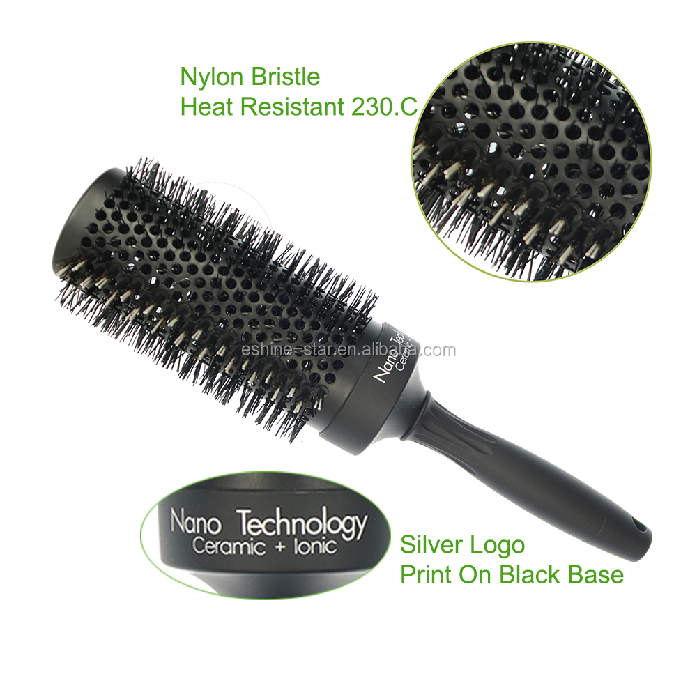 2019 Longer aluminum barrel nylon bristle styling hair brush