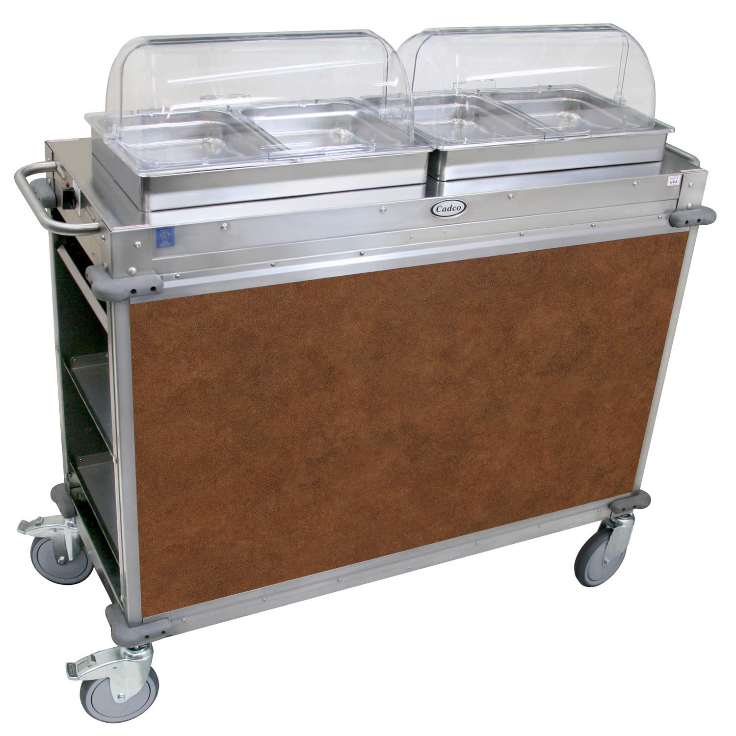 """Mobile Hot Buffet Cart Size: 49.5"""" H x 52.75"""" W x 20.75"""" D, Color: Flame Soapstone Red"""