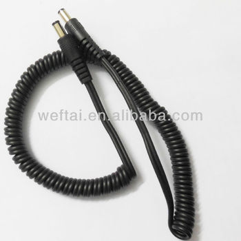 2.1mm Dc Spring Wire Coiled Cable - Buy Spring Wire Coiled Cable,Dc ...