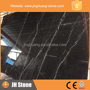 Chinese Good Price Black Marquina Marble Slab With Vein