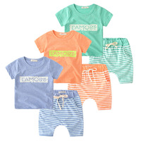 Stock Lots Branded Child Clothing Unique Korean Summer Casual Kids Clothes