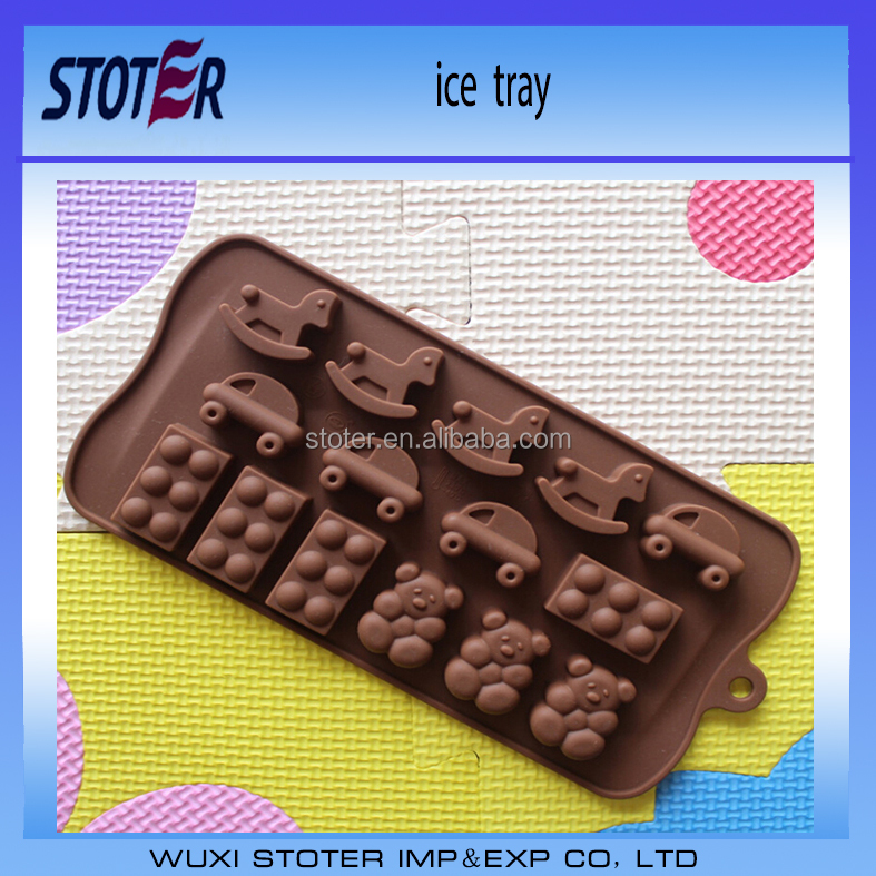 100% food grade silicone ice trays mold in ice maker