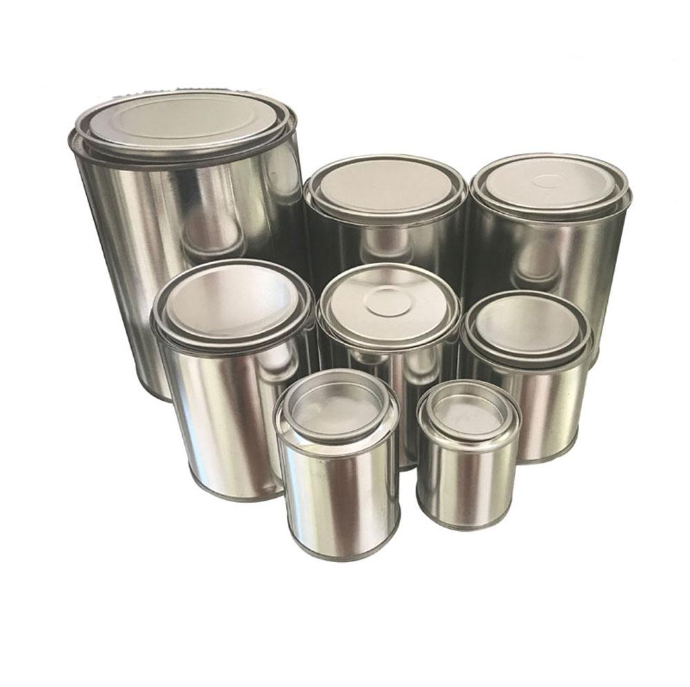Kim loại tùy biến 0.1L-5L sử dụng sơn keo nến sáp hóa chất đóng gói tin container/can/xô