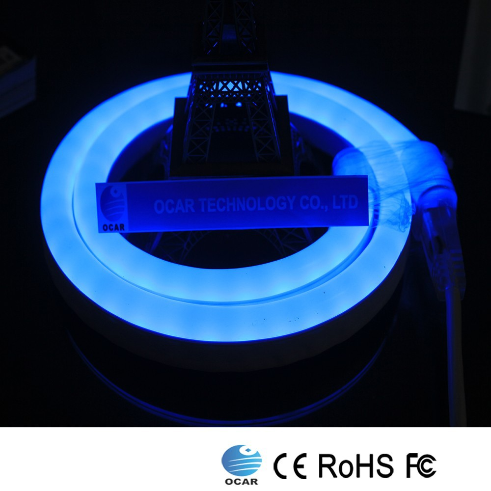 Globe selling 100% waterproof Blue LED Neon light Certificates FCC,CE,RoHS
