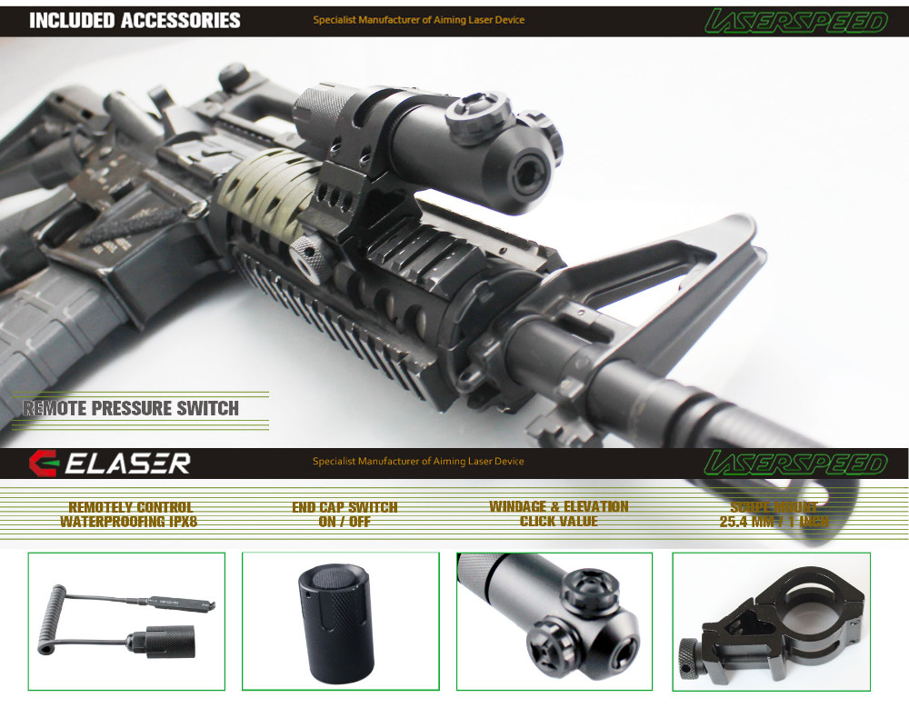 Universal waterproof laser sight guns and weapons for hunting