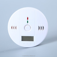 Carbon monoxide CO detector alarm for co/carbon monoxide smoke detector sensor with LCD display
