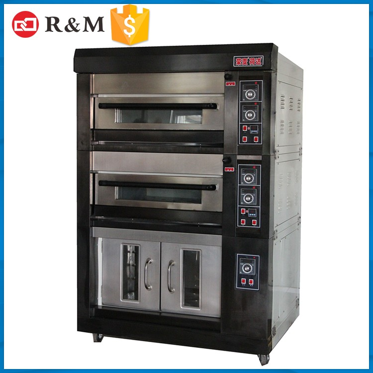 Professional commercial 3 deck bakery bread electric baking convection oven with baking dough proofer