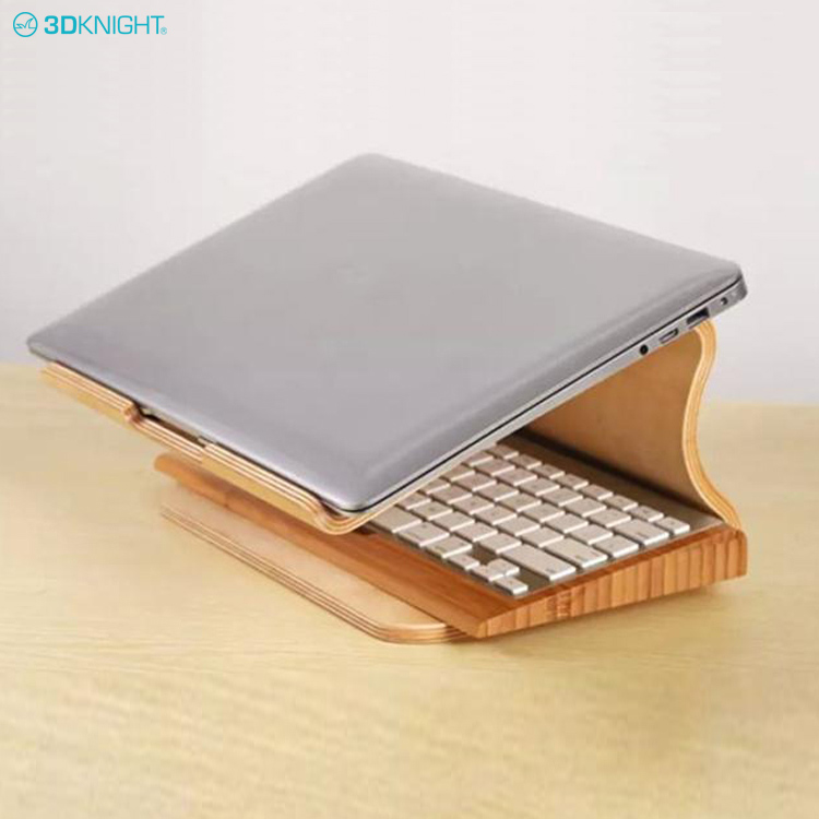 Eco-Friendly Decorative Wooden Portable Laptop Computer Stand Holder