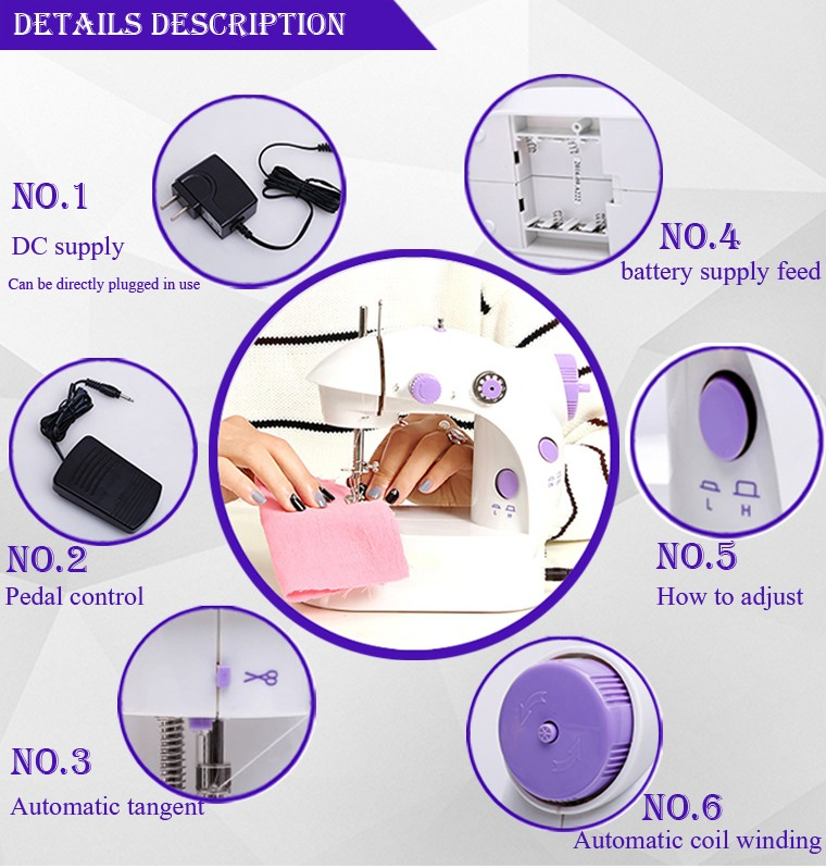 Chinese electric mini house use sewing machine price